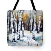 The White Of Winter Birch Tote Bag