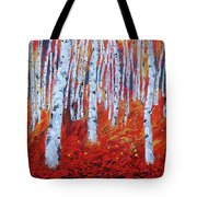Birch In Gold Tote Bag