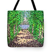 Birch Path Tote Bag