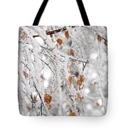 Frost Birch  Tote Bag