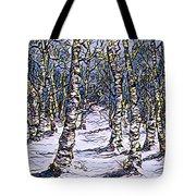 Birch Tree Mosaic 2 Tote Bag