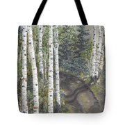 Birch Trees Along Kennys Road  2 Tote Bag