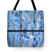 Birch Trees - Blue Tote Bag