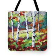 Birches 07 Tote Bag