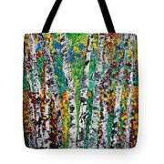 Birches And Scrub Tote Bag