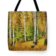 Birches And Spruces Tote Bag