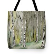 Birches Before Spring Tote Bag