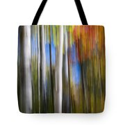 Birches In Autumn Forest Tote Bag