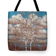 Birches In The Spring Tote Bag