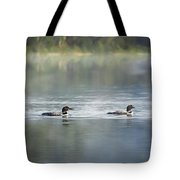 Bird Art Loons - Into The Light Tote Bag