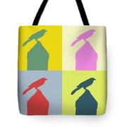 Bird At The Top - Abstract Art Tote Bag