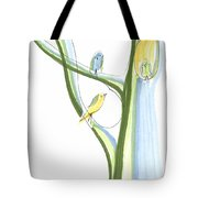 Bird Chatter In The Branches Tote Bag