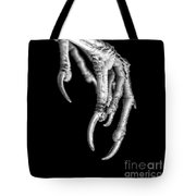Bird Claw Black And White Tote Bag