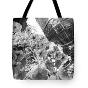 Bird Feeder And Flowers Tote Bag