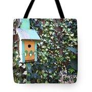Bird Feeder In Ivy Tote Bag