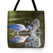 Bird Fishing In Lake Tote Bag