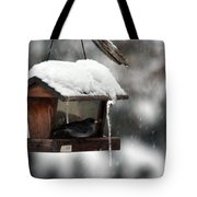 Bird House Blues Tote Bag