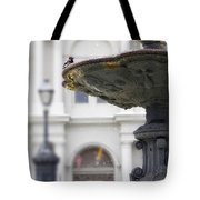 Bird In A Fountain Tote Bag
