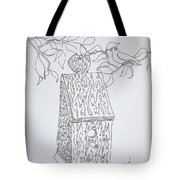 Bird In A Line Tote Bag