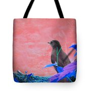 Bird In Abstract Tote Bag