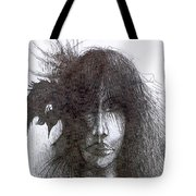 Bird In Hair  Tote Bag