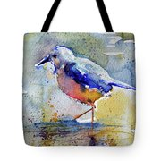 Bird In Lake Tote Bag