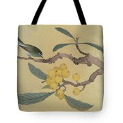 Bird In Loquat Tree Tote Bag