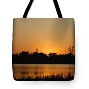Bird In The Sunset Tote Bag