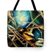 Bird In Winter Tote Bag