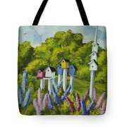 Bird Metropolis Tote Bag
