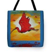 Bird Of Beauty, Loves Light In Flight Tote Bag