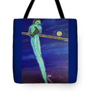 Bird Of Beauty, Moon Blue Tote Bag