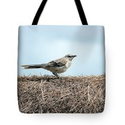Bird On A Grass Roof Tote Bag