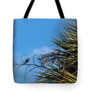 Bird On A Palm Branch Tote Bag