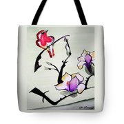 Bird On A Stem Tote Bag