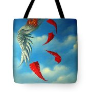 Bird On Fire Tote Bag