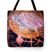 Bird On Thistle At Sundown Tote Bag