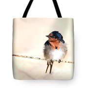 Bird On Wire Tote Bag