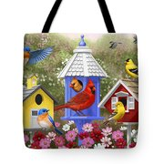 Bird Painting - Primary Colors Tote Bag