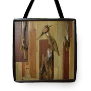 Bird Painting With Wooden Waste Tote Bag
