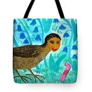Bird People Blackbird And Worm Tote Bag