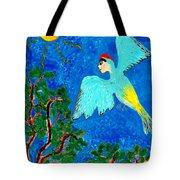 Bird People Green Woodpecker Tote Bag