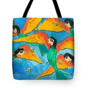 Bird People Little Green Bee Eaters Of Upper Egypt Tote Bag