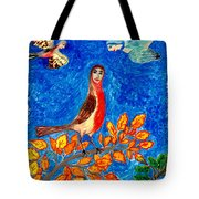 Bird People Robin Tote Bag by Sushila Burgess
