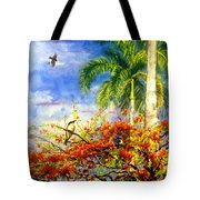 Bird Protected By Her Mother Tote Bag