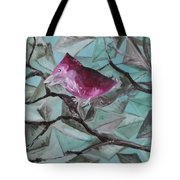 Bird Submerged In Leaves Tote Bag