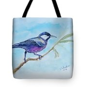 Bird. Watercolor Tote Bag