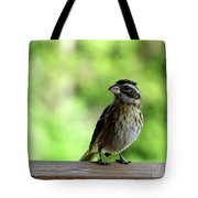 Bird With Punk Attitude Tote Bag