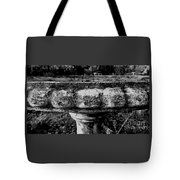 Birdbath In Black And White  Tote Bag