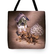 Birdhouse And Beehive 2 Tote Bag